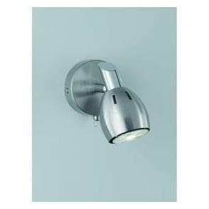 Franklite SPOT9001 Tivoli 1 Light Wall Light Satin Nickel