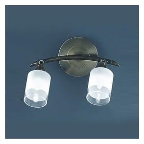 Franklite SPOT8772 Campani 2 Light Wall Light Bronze