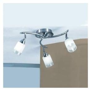 DP40023 Campani 3 Light Ceiling Light Satin Nickel and Chrome