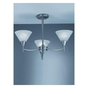 Franklite PE9833 Harmony 3 Light Ceiling Light Satin Nickel