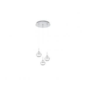 Eglo 93709 Montefio 1 3 Light Ceiling Light Polished Chrome