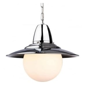 Firstlight 3408CH Marco 1 Light Pendant Polished Chrome