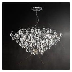 Franklite FL2326/13 Wisteria 13 Light Ceiling Light Chrome