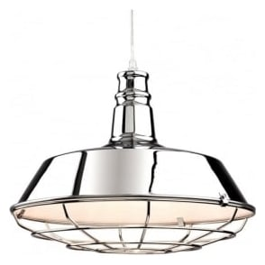 Firstlight 3444CH Manta 1 Light Ceiling Pendant Polished Chrome