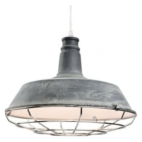 Firstlight 3444CN Manta 1 Light Ceiling Pendant Concrete