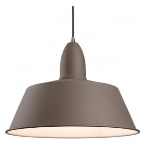 Firstlight 3404CN Riva 1 Light Ceiling Pendant Concrete