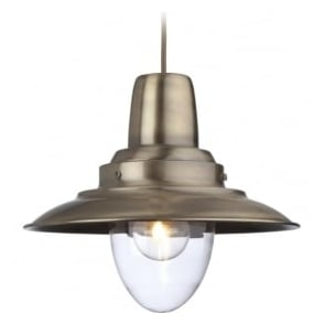 Firstlight 8645AB Fisherman 1 Light Ceiling Antique Brass
