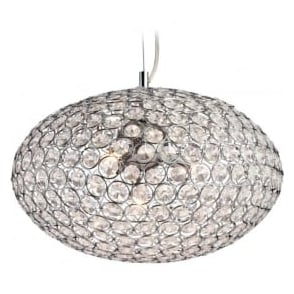 Firstlight 8625CH Oval 1 Light Pendant Polished Chrome