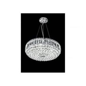 FL2020/9 Constellation 9 Light Crystal Chandelier Polished Chrome