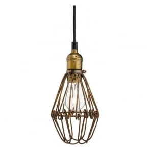 Firstlight 3446RB Arcade 1 Light Ceiling Pendant Rustic Brown
