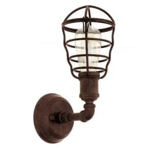 Eglo 49811 Port Seton 1 Light Wall Light Antique Brown