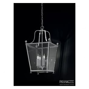 LA7003/4 Atrio 4 Light Ceiling Lantern Polished Chrome