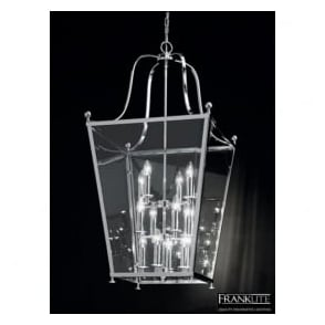 LA7003/12 Atrio 12 Light Ceiling Lantern Polished Chrome