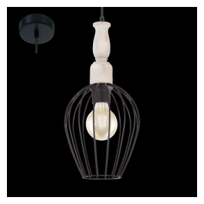 Eglo 49782 Norham 1 Light Ceiling Pendant Black