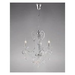 Diyas IL31363 Vela 3 Light Crystal Ceiling Light Polished Chrome
