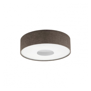 Eglo 95337 Romao 2 1 Light Flushed Ceiling Light Chrome/Satin Nickel