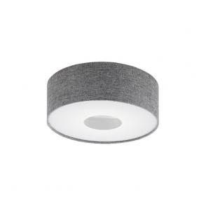 Eglo 95345 Romao 15 Light Flushed Ceiling Light Chrome/Satin Nickel