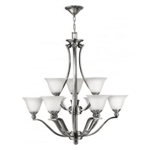 Elstead Hinkley HK/BOLLA9 Bolla 9 Light Ceiling Light Brushed Nickel
