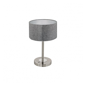 Eglo 95352 Romao 1 Light Table Lamp Chrome/Satin Nickel