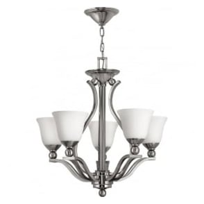 Elstead Hinkley HK/BOLLA5 Bolla 5 Light Ceiling Light Brushed Nickel
