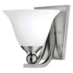 Elstead Hinkley HK/BOLLA1 Bolla 1 Light Wall Light Brushed Nickel