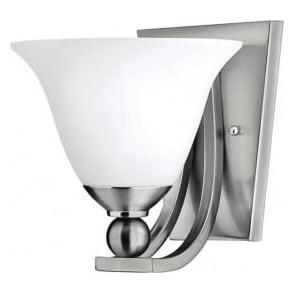 Elstead Hinkley HK/BOLLA1 Bolla 1 Light Wall Light Brushed Nickel