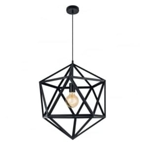 Eglo 49762 Embleton 1 Light Ceiling Pendant Black