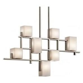 Elstead Kichler KL/CITYLIGHTS7B City Lights 7 Light Ceiling Pendant Pewter