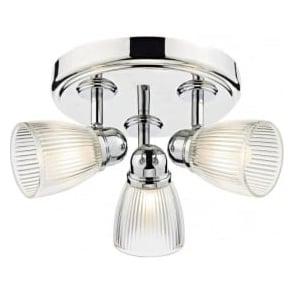Dar CED7638 Cedric 3 Light Bathroom Spotlight Polished Chrome IP44
