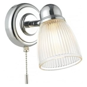Dar CED0738 Cedric 1 Light Wall Spotlight Polished Chrome IP44