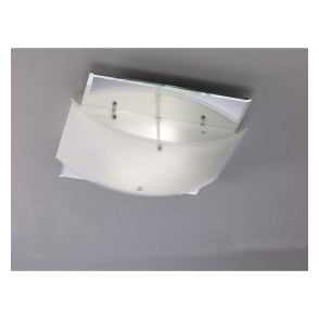 IL30994 Vito 2 Light Flush Ceiling Light Polished Chrome