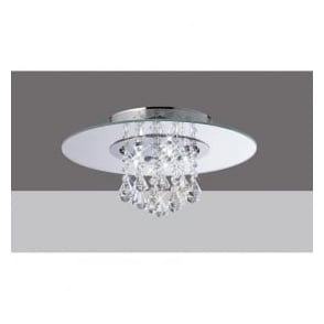 IL31003 Starda Round 5 Light Crystal Semi-flush Ceiling Light Polished Chrome