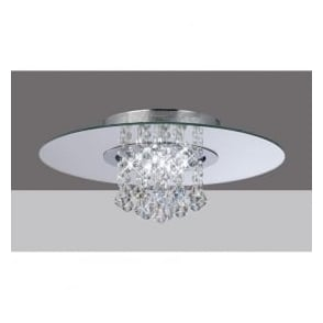 IL31007 Starda Round 8 Light Crystal Semi-flush Ceiling Light Polished Chrome
