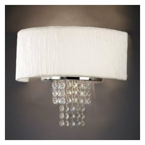 IL30271/WH Nerissa 2 Light Wall Light with White Shade