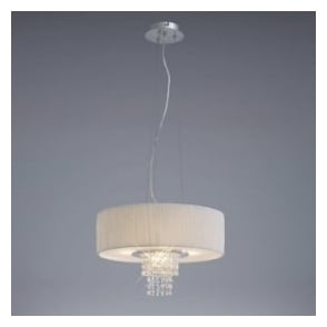 IL30272/WH Nerissa 4 Light Ceiling Pendant with White Shade