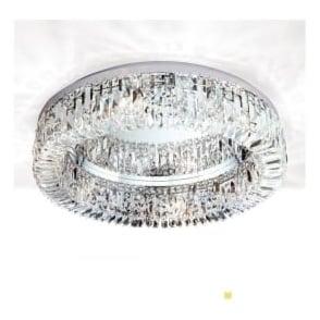 Orion Lighting RIN2411660 Ring 6 Light Ceiling Light Polished Chrome Scholer Crystal