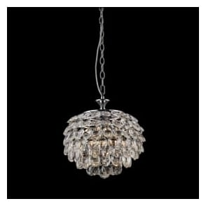 CF311201/03/CH Adaliz 3 Light Crystal Ceiling Pendant Polished Chrome