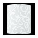 Eglo 91245 Grafik 1 Light Wall Light White Printed Glass