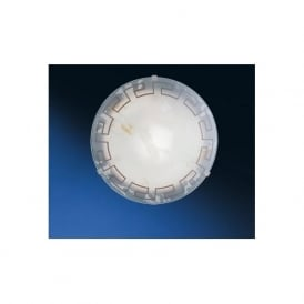 82891 Twister 1 light traditional flush ceiling light marble effect glass greek style small