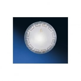 86873 Twister 2 light traditional flush ceiling light marble effect glass greek style large