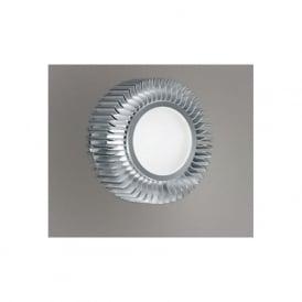 89119 Chiron 1 light modern downlight circular fan effect white satin glass aluminium finish