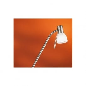 86431 Prince1 1 light modern spotlight floor lamp adjustable with alabaster glass nickel matt finish