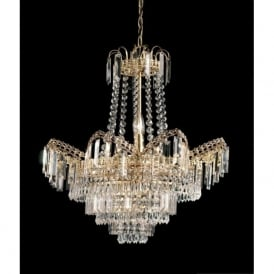 96819-GO Adagio 9 Light Chandelier Gold