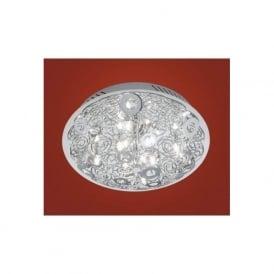 90521 Cromer 8 light modern flush wall/ceiling light chrome finish