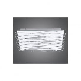 90477 Metis 12 light modern flush ceiling light chrome finish with mirrored effect