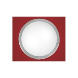 82941 Planet 2 light modern wall/ceiling light nickel matt finish with a satinated glass shade