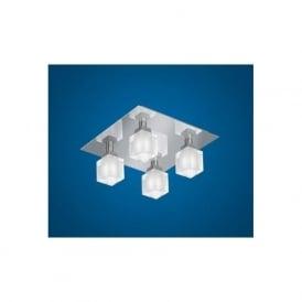 83922 Tresco 4 light modern ceiling light flush chrome finish