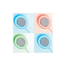 EL-10076-RGB transparent self adhesivesurface mounted LED downlight (set of 4)