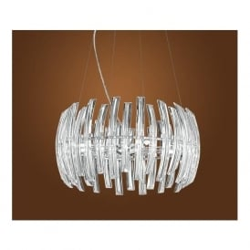 89203 Drifter 9 Light Crystal Ceiling Pendant Chrome