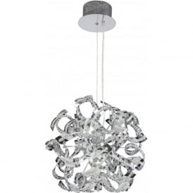 TWIST-9CH Twist 9 Light Ceiling Pendant Chrome